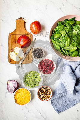 Apple Salad Ingredients