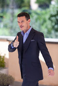 Luke Evans attends a photocall in Rome for Dracula Untold.