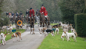 The Quorn Hunt at Lowesby Hall 10/2