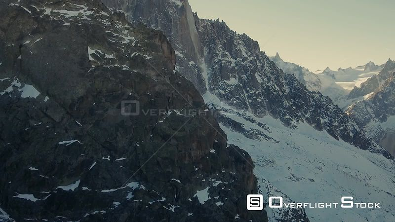 Views over Mont Blanc , Chamonix Valley in France.