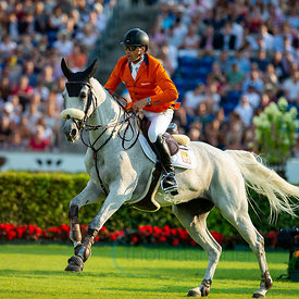 19/07/18, Aachen, Germany, Sport, Equestrian sport CHIO Aachen 2018 - ,  Image shows Leopold VAN ASTEN (NED) riding VDL Groep...