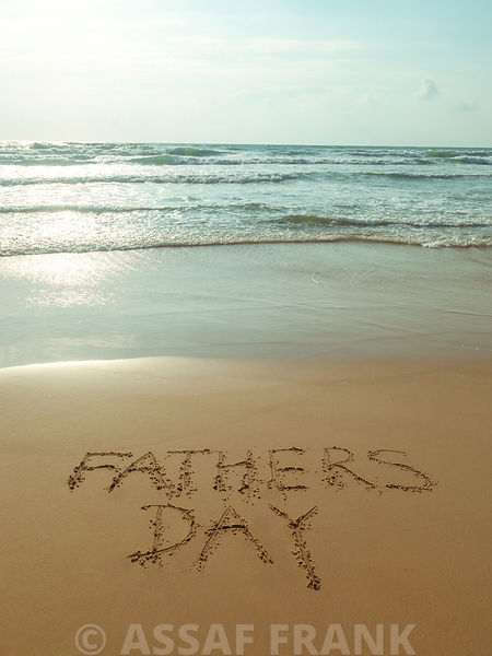 Beach writing - Fathers day