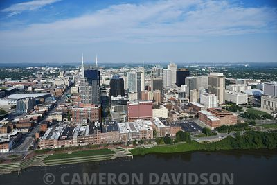 Aerial photograph of downtown Nashville, Tennessee