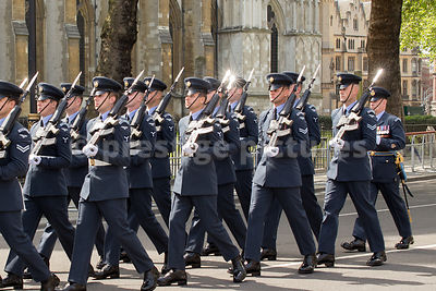 Sun Glinting off the Bayonets of the RAF Airmen outside Westminster Abbey