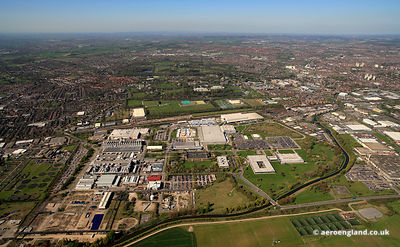 aerial photograph of the Boots site in Nottingham England UK