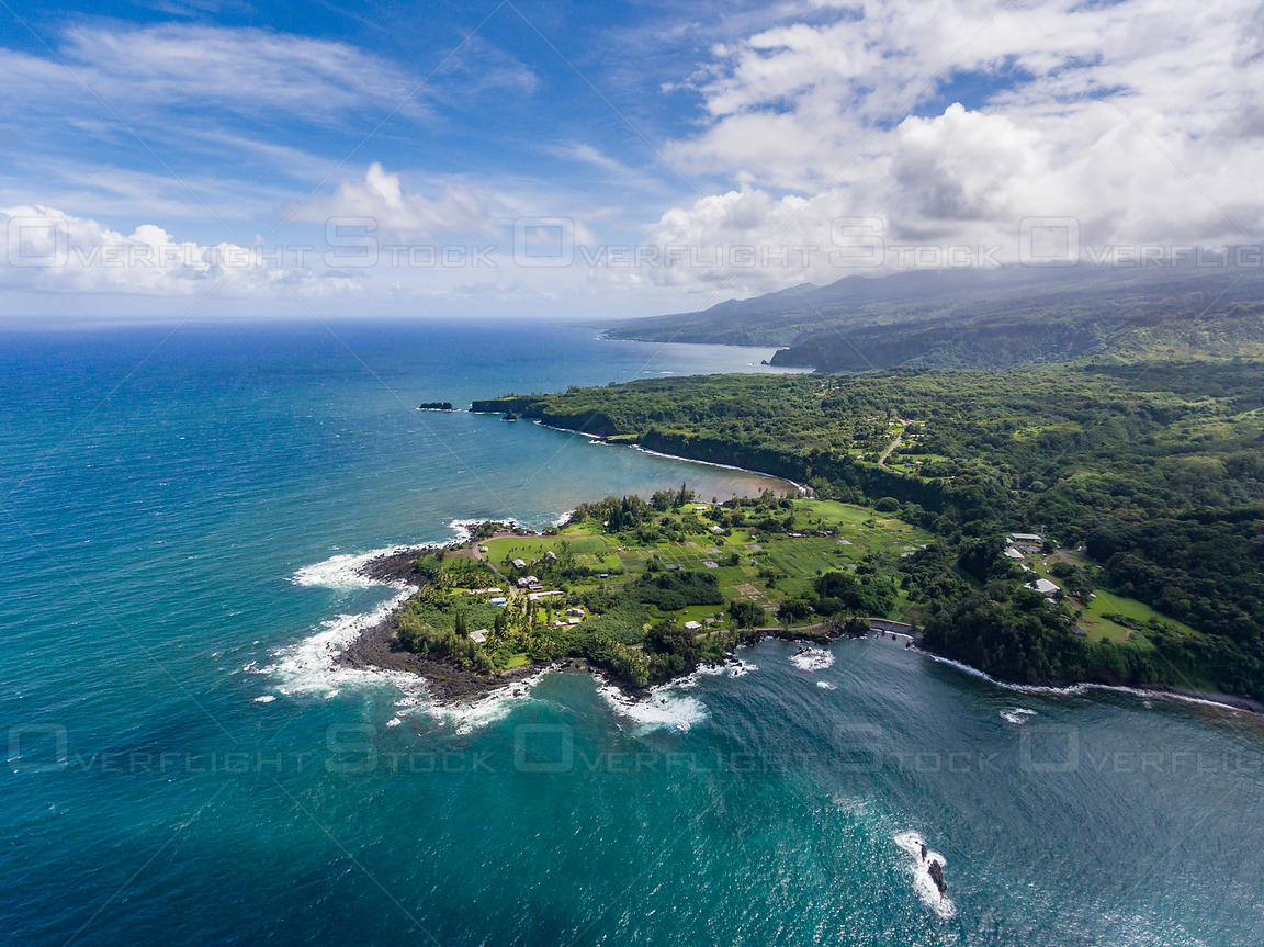 Ke'Anae Peninsula Along the Road to Hana Maui Hawaii
