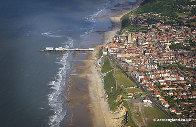 aerial photograph of Cromer Norfolk UK