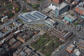 Manchester Metropolitan University and the faculty buildings of Business and Law south Manchester