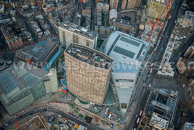 Aerial view of Cardinal Place, Victoria, London
