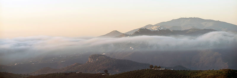 Comares Christmas morning mist