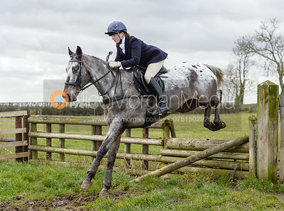 Charlotte Barnes jumping a fence at Burrough House