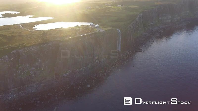 Mealt Falls Isle of Skye Drone Video Highlands Scotland