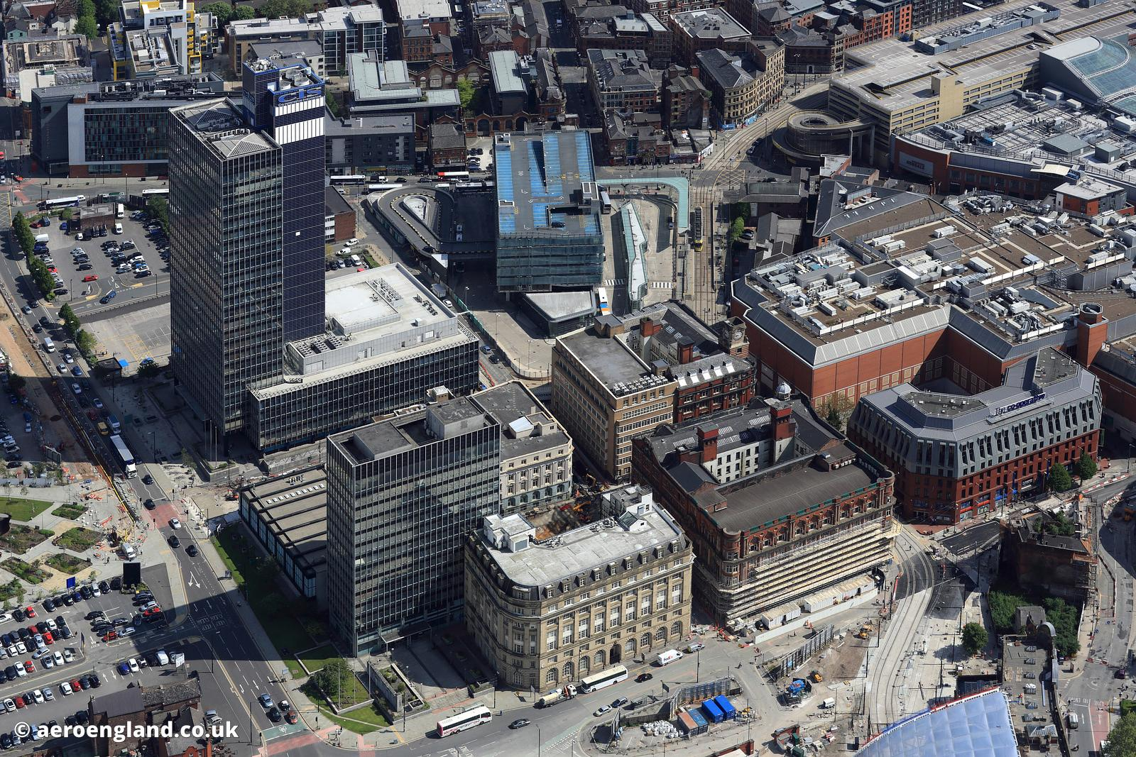 aerial photograph the COOP  Manchester  England UK.