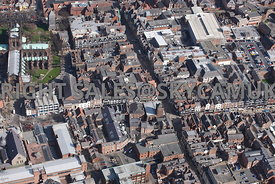 Chester aerial photograph of the Eastgate Street and Northgate Street Chester