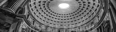 Dome inside Pantheon, Rome, Italy