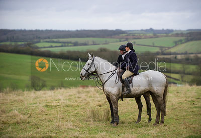 Simon Grieve and Liz Foster - Cottesmore Hunt at Ranksboro 27/11/12