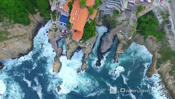 La Quebrada Drone Video Acapulco Mexico