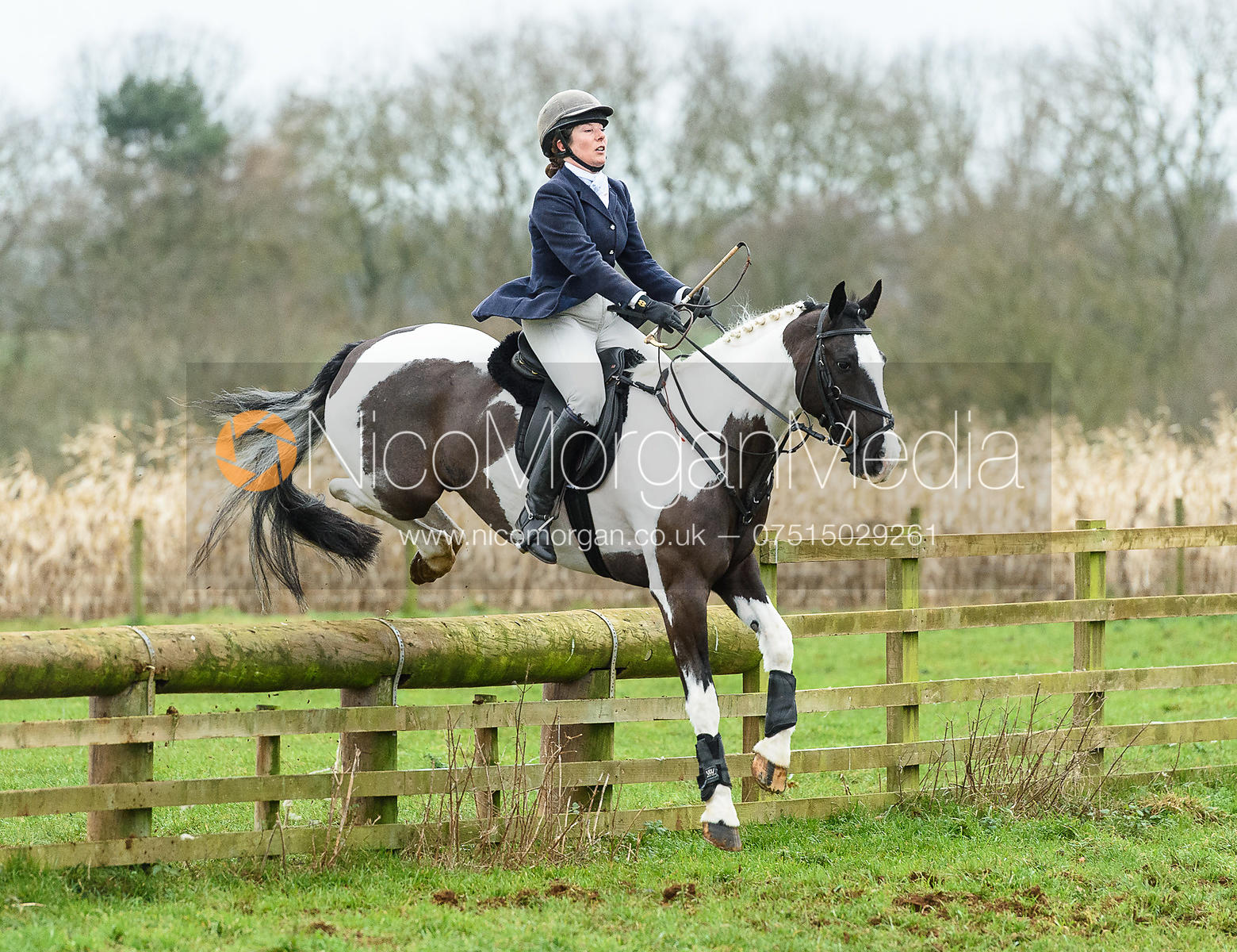 Kathryn Pepper jumping a fence at Goadby Marwood 11/1