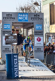 The Cyclist Michael Albasini- Paris Nice 2013 Prologue in Houilles