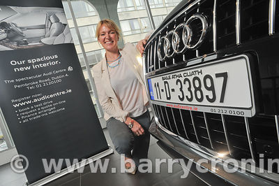 25th July, 2011. Celebrity Chef Rachel Allen receives keys to a new Audi Q7 from Audi Ballsbridge. Photo:Barry Cronin/www.bar...