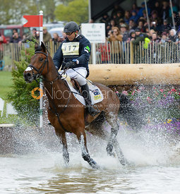 Bill Levett and SHANNONDALE TITAN - Cross Country phase, Mitsubishi Motors Badminton Horse Trials 2014