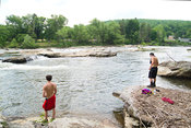 Boys Fishing In Youghiogheny River- Ohiopyle, PA (2)