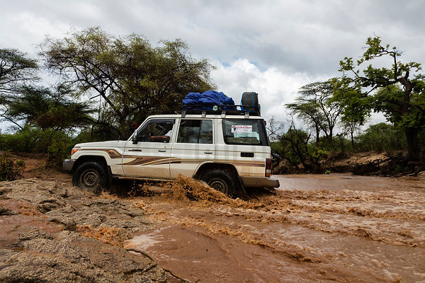 Land Cruiser River Crossing