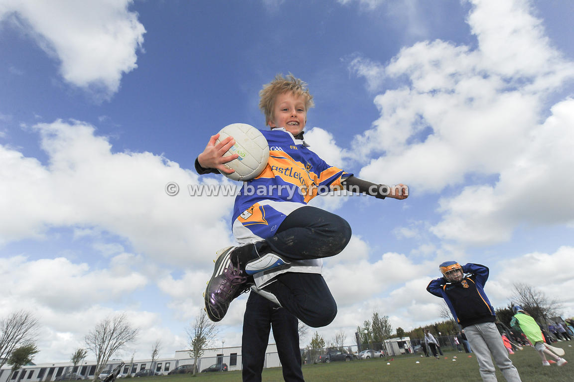 21st April, 2012. Castleknock GFC football nursery, Carpenterstown, Dublin. Pictured is one of the young members - Jack Chris...