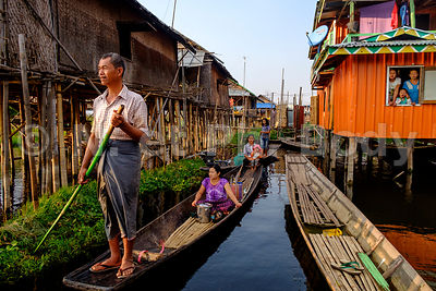 BIRMANIE, LAC INLE//BURMA, INLE LAKE