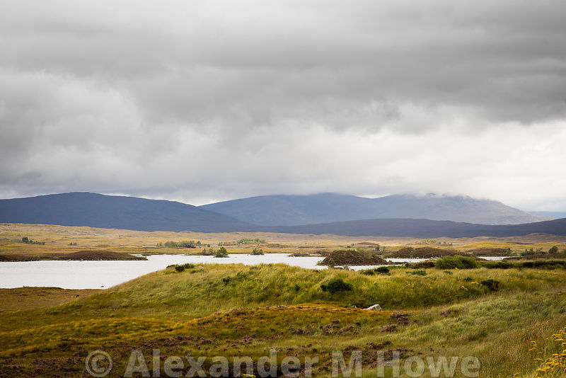 The desolate moorland that is Rannoch Moor in Lochabar, Scotland