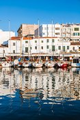 Old harbor waterfront, Ciutadella, Menorca, Spain