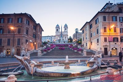 Spanish steps with famous stairway, Rome, Italy
