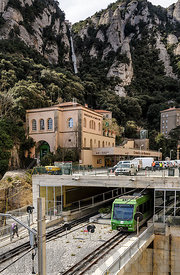 Train at Montserrat in Spain.