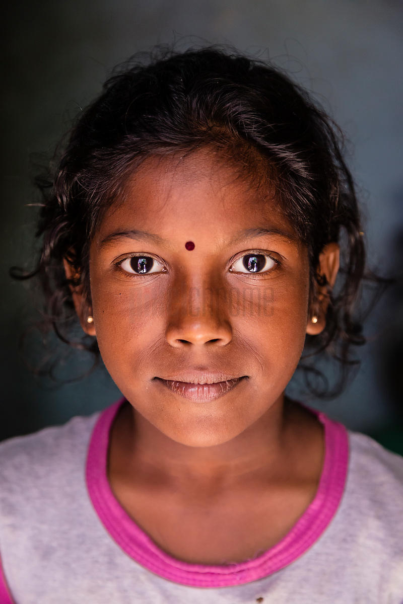 Portrait of a Young Girl in Marina Beach Slum