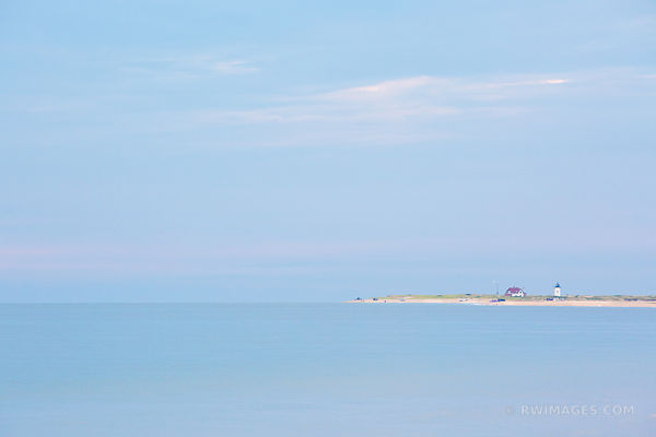 BLUE OCEAN HERRING COVE BEACH LIGHTHOUSE CAPE COD MASSACHUSETTS COLOR