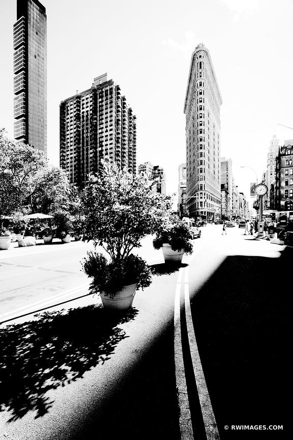 FLATIRON BUILDING MANHATTAN NEW YORK CITY BLACK AND WHITE VERTICAL