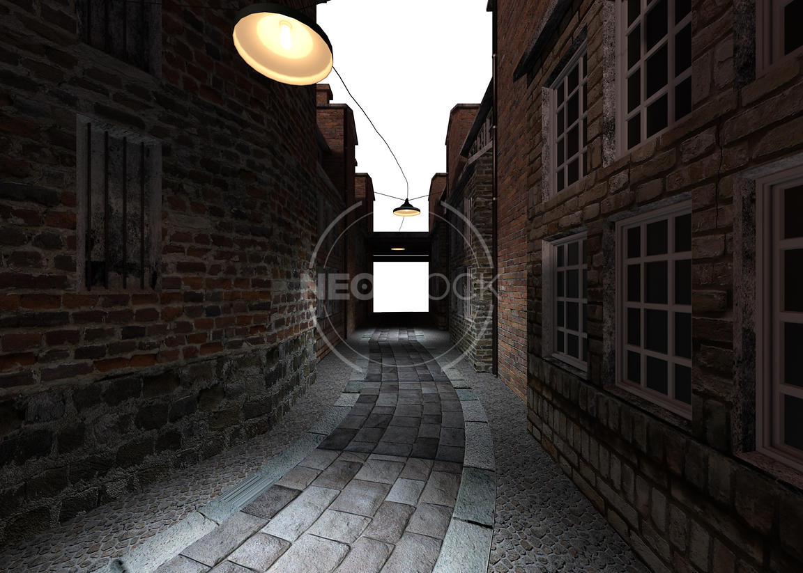 Old_London_Alley_-_03_-_Night