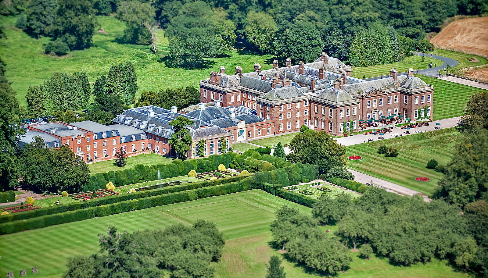 Areial View of Holme Lacy Country Hotel; Herefordshire