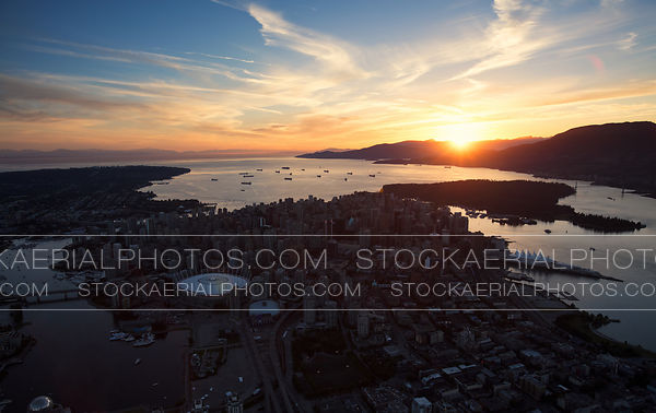 Vancouver Aerial Sunset