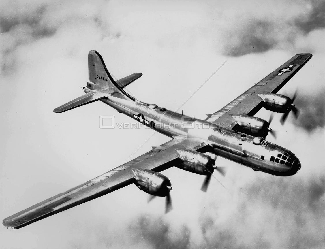 EUROPE -- 1945 -- Boeing B-29 'Superfortress' heavy bomber. This is the same type of aircrft which dropped the two Atomic bom...