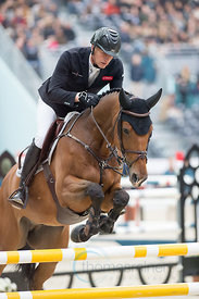 Paris, France, 17.3.2018, Sport, Reitsport, Saut Hermes - PRIX GL Events Bild zeigt Marc HOUTZAGER(NED) riding Sterrehof's Ca...