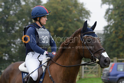 Allison Springer and ARTHUR - cross country phase,  Land Rover Burghley Horse Trials, 6th September 2014.