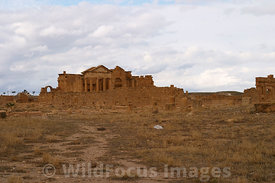 The 3 temples as viewd from the cisterns, Sbietla Tunisia; Landscape