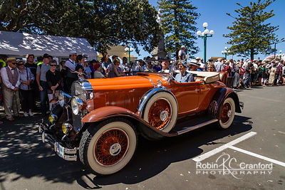 Art Deco Saturday 2012 - Vintage Car Parade.  License Plate = ? Entry # 201