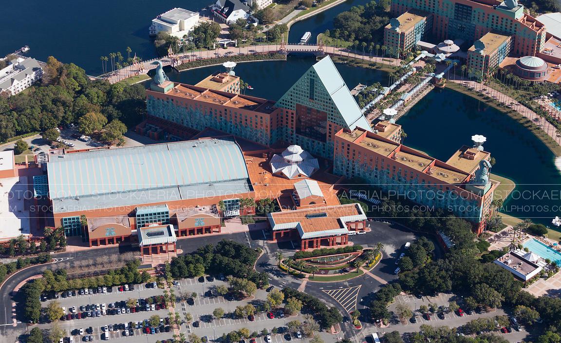 Aerial Photo Walt Disney World Dolphin Resort