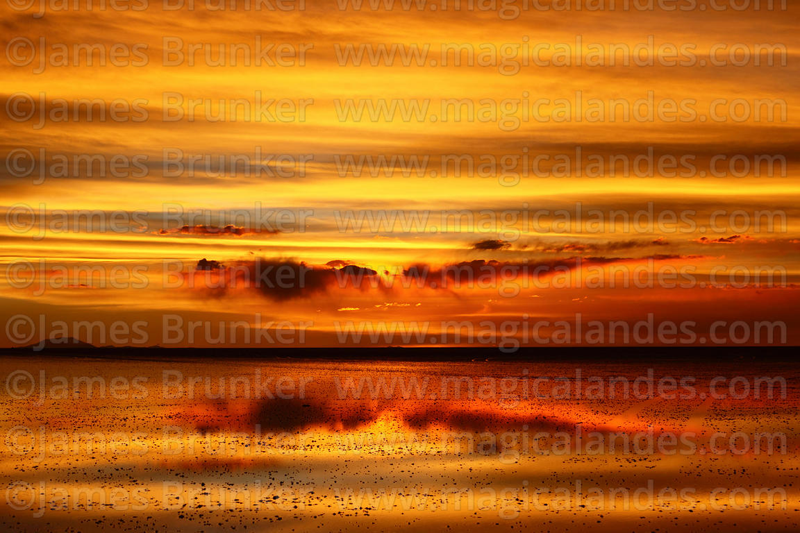 Magical Andes Photography Sunset Reflected On Surface Of