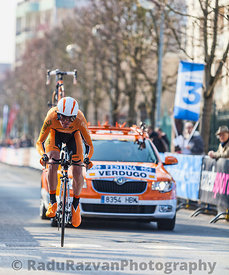 The Cylist Verdugo Gorka- Paris Nice 2013 Prologue in Houilles