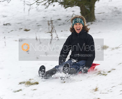 Sledging at Burrough Hills
