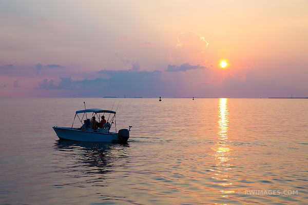 FISHING CHARTER BOAT AT SUNSET KEY WEST FLORIDA