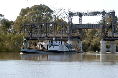 Paddle steamer on Murray River.